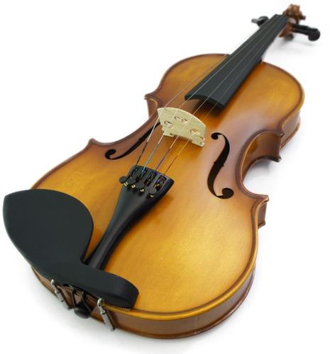 violin greko mv1411a de 4/4 con estuche semi-duro y arco