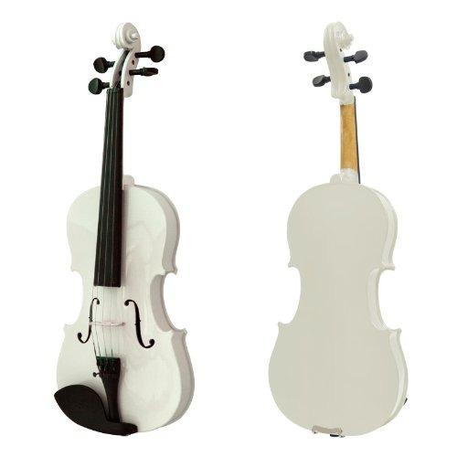 violin mendini 4/4 blanco con accesorios envio gratis