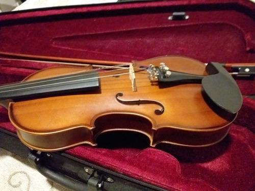 violin stradella 3/4 + estuche+ arco+ afinador+resina