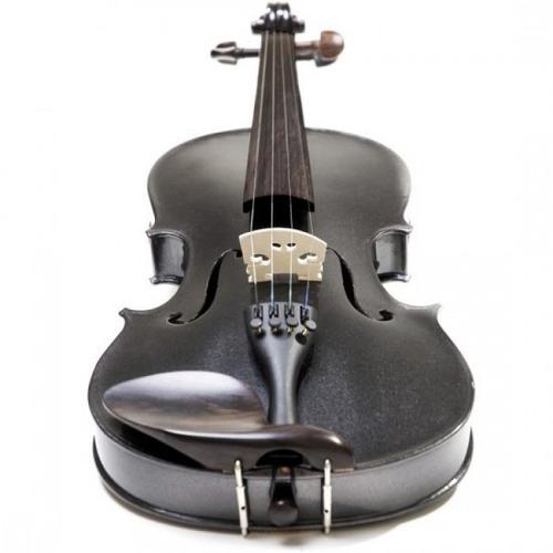 violino 4/4 cecilio , preto levemente  de purpurina