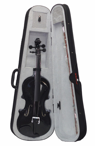 violino 4/4 preto estojo luxo arco breu black friday