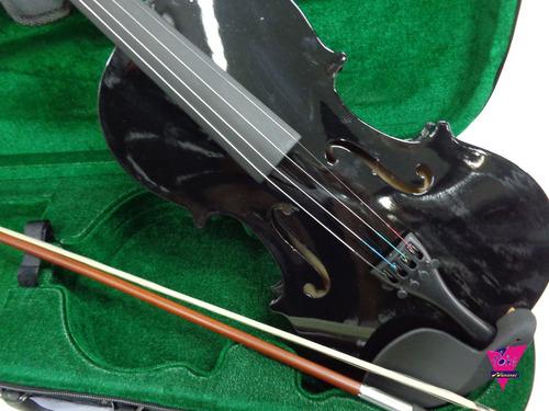 violino 4/4 ronsani preto com estojo e arco sverve 20003