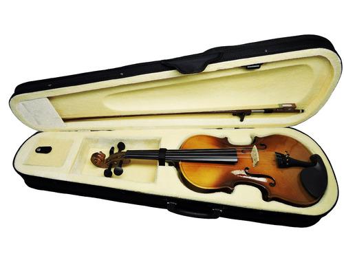 violino deviser 4/4 c/estojo + arco + breu - completo!
