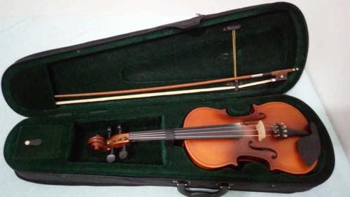 violino hoyden vhe 44n, 4/4 com espaleira, fosco natural