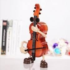 violino miniatura musical caixinha de musica danca som antig