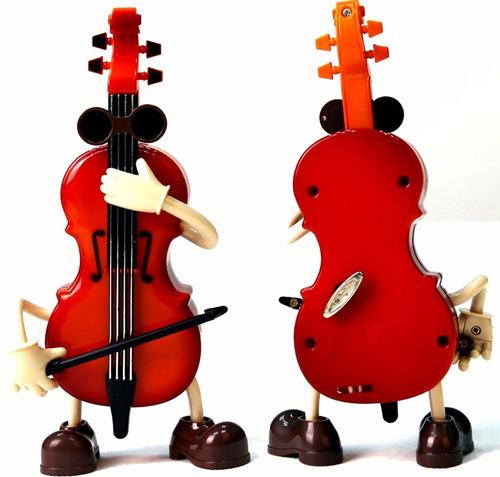 violino miniatura musical caixinha musica danca som antig