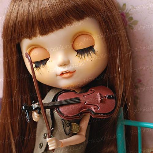 violino para boneca blythe * pullip dal * miniatura re-ment