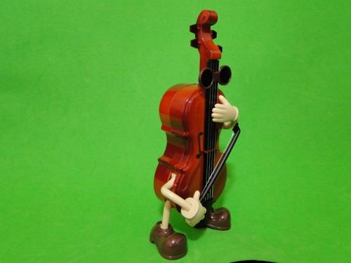 violino violoncelo  dançante musical movida à corda 20x12cm