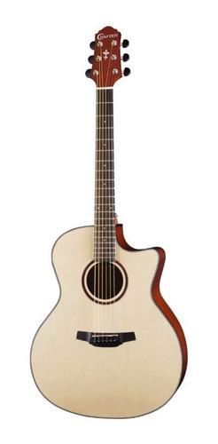 violão aço crafter hg250 ce natural verniz elétrico spruce