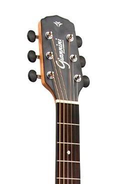 violão aço elétrico giannini folk afinador gf-1d zebra wood