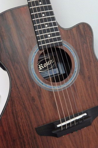 violão aço flat elétrico cutway rozini rx516atf