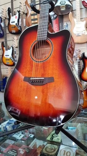 violão aço folk crafter hd250 ce brs sunburst elétrico