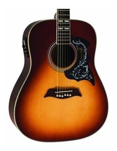 violão aço folk elétrico michael galaxy vm925dt ss