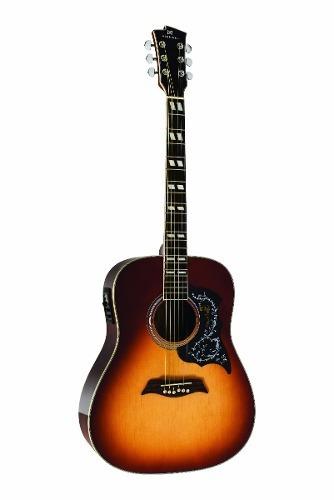 violão aço folk elétrico michael galaxy vm925dt vs