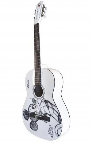 violão acústico phoenix mickey branco nylon iniciante + capa