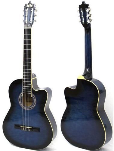 violão austin clássico nylon com cut way mag5 azul