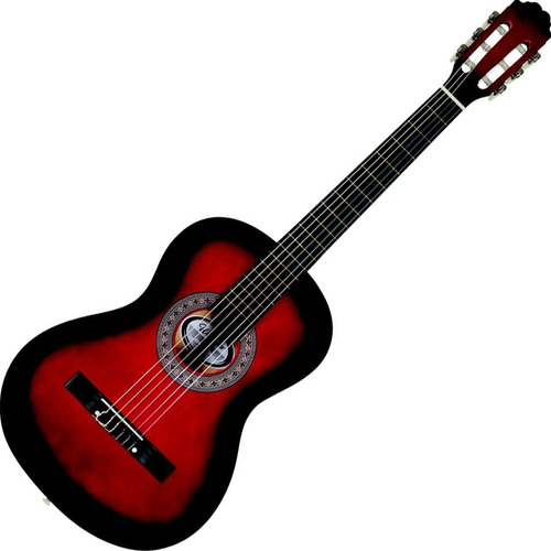 violão clássico acústico cordas nylon iniciantes vermelho