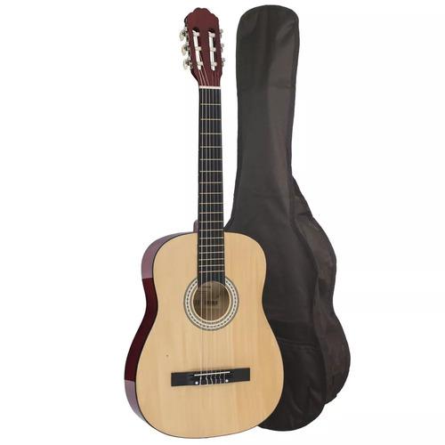 violão cordas nylon barato acústico com capa natural