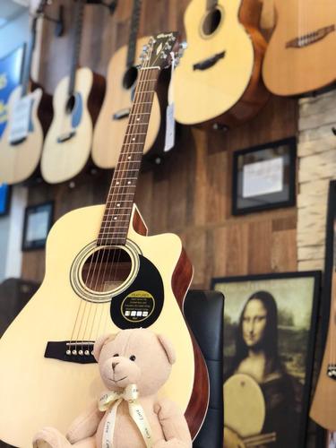 violão cort af54oceop + case luxo sólido