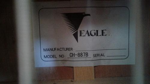 violão eagle folk ch887b aço elétrico - preto