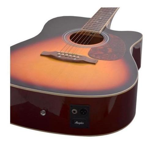 violão electroacústico tagima memphis md 18 tilia sunburst