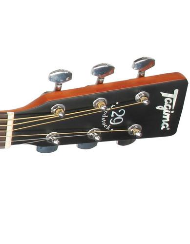 violão elétrico aço tagima woodstock tw29 natural + kit2