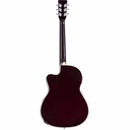 violão eletrico acústico ge21 cor natural harmonics aco