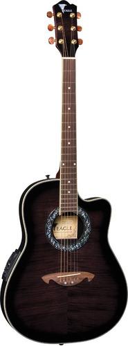 violão elétrico eagle ch306 bkb cutway fiber round
