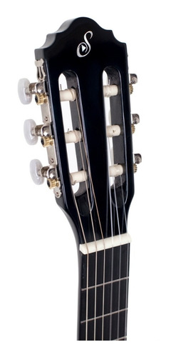 violão elétrico giannini flat nf14 bk nylon - corpo fino