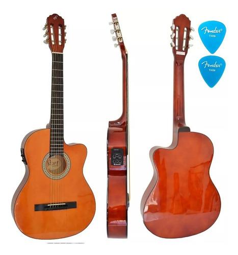violão elétrico giannini flat sf14 nt natural aço afinador