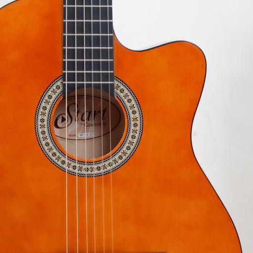 violão elétrico giannini nf14 nylon flat fino natural