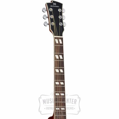 violão eletrico michael vm925 dtc folk aço natural fosco