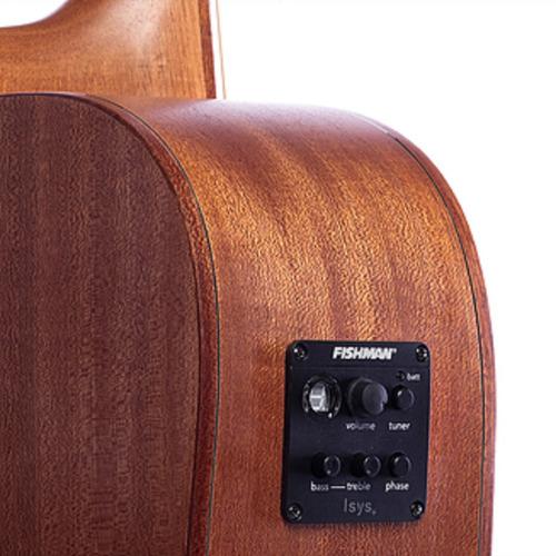 violão eletrico redburn 6 cor aço rb-200 geração 02 + brinde (correia redburn couro)
