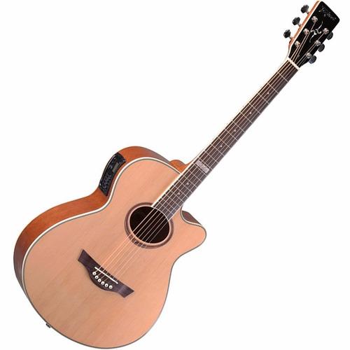 violão elétrico tagima dallas aço natural satin afinador