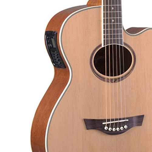 violão elétrico tagima dallas tuner cutaway natural na.