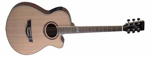 violão eletrico tagima dallas tunner aço com afinador + capa