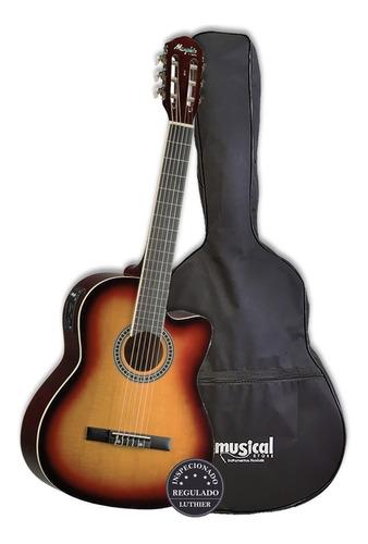 violão eletrico tagima memphis ac-60 sb sunburst c/ capa