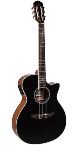 violão elétrico tagima nylon tw27 preto woodstock series