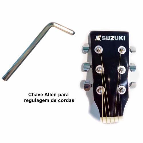 violão eletro acústico estilo michael vm925 folk sunburst