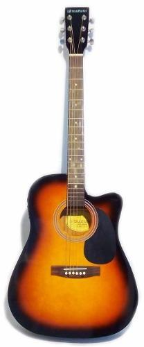 violão eletro acústico tipo michael vm925 folk sunburst