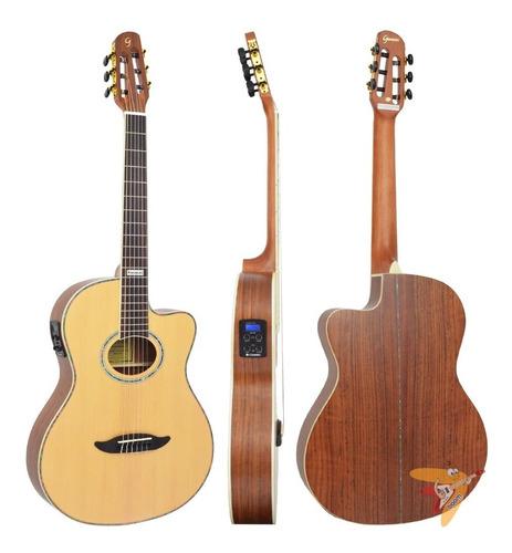 violão eletroacústico flat gnf-3 ceq ns fosco satin giannini