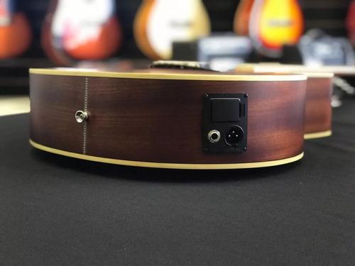 violão eletroacústico hmf240 stnt hofma aço natural hofma