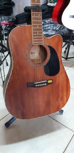violão folk cort mahogany ad880 mce op