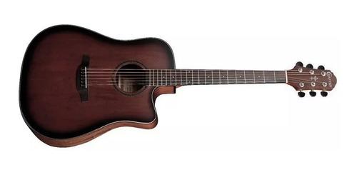violão folk crafter hde250 s.brs + capotraste