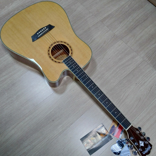 violão folk washburn wd10ce natural fishman 301t