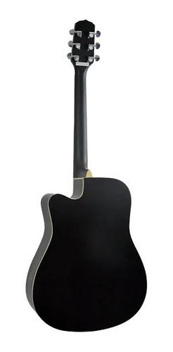 violão giannini elétroacustíco folk cutaway satin black