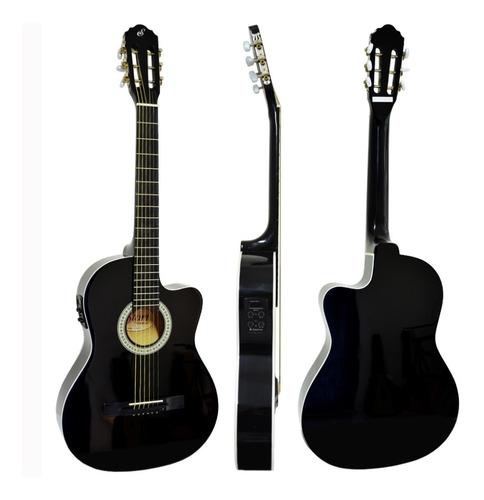 violão giannini flat elétrico sf14 bk aço com afinador