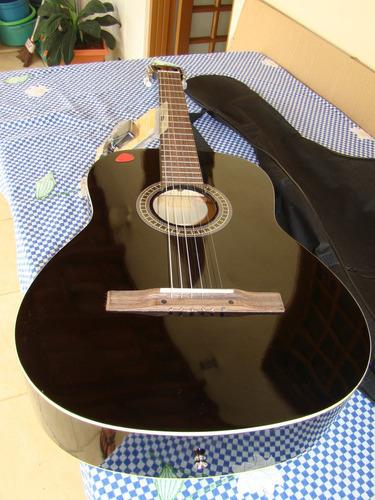 violão giannini gsx 15 bk preto + afinador af-06