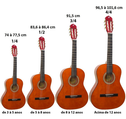 violão infantil acústico nylon 3/4 n6 start natural giannini