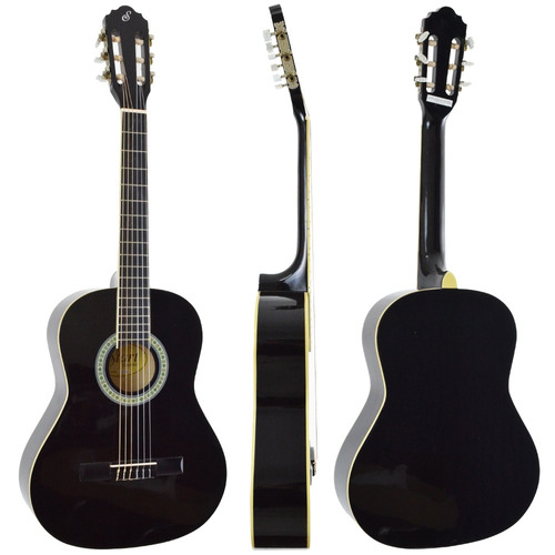 violão infantil acústico nylon 3/4 n6 start preto giannini